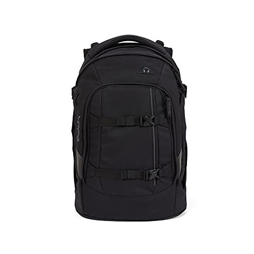 Satch Pack Blackjack, ergonomischer Schulrucksack, 30 Liter, Organisationstalent, Schwarz, OneSize, SAT-SIN-001-800