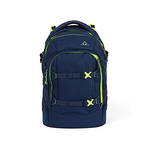 Satch Pack Toxic Yellow, ergonomischer Schulrucksack, 30 Liter, Organisationstalent, Gelb, SAT-SIN-001-122