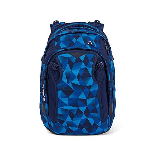 Satch Match, Blue Crush ergonomischer Schulrucksack, erweiterbar auf 35 Liter, extra Fronttasche, SAT-MAT-003-9A2, OneSize
