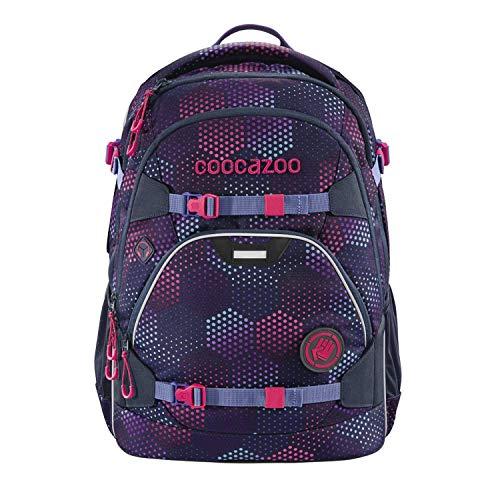 coocazoo Schulrucksack ScaleRale Purple Illusion lila-rosa, ergonomischer Tornister, höhenverstellbar mit Brustgurt und Hüftgurt für...