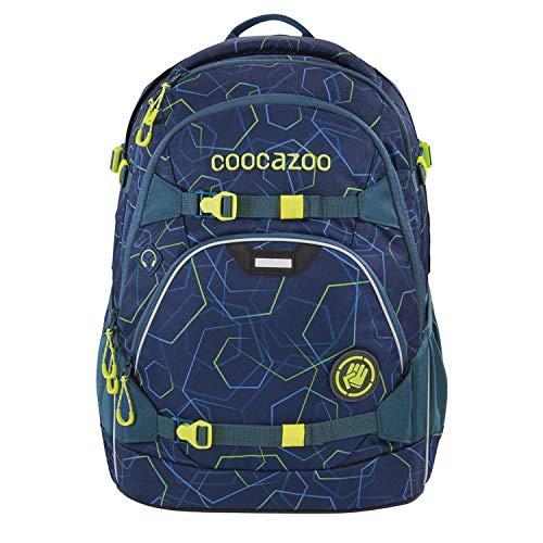 coocazoo Schulrucksack ScaleRale Laserbeam Blue blau, ergonomischer Tornister, höhenverstellbar mit Brustgurt und Hüftgurt für Jungen ab...