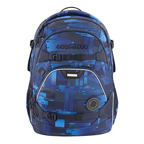 """coocazoo Schulrucksack ScaleRale """"Deep Matrix"""", blau, ergonomischer Tornister, höhenverstellbar mit Brustgurt und Hüftgurt für Jungs..."""