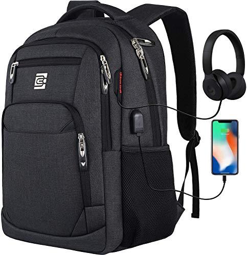 marcello Laptop Rucksäcke mit USB-Ladeanschluss Herren Damen für Arbeit Schule Uni Schulrucksack für Jungen Teenager mit Laptopfach &...